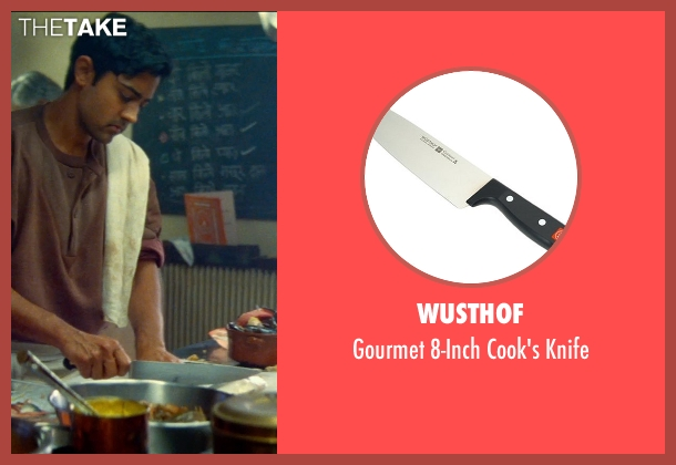 Wusthof knife from The Hundred-Foot Journey seen with Manish Dayal (Hassan Haji)