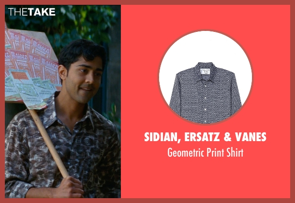Sidian, Ersatz & Vanes shirt from The Hundred-Foot Journey seen with Manish Dayal (Hassan Haji)