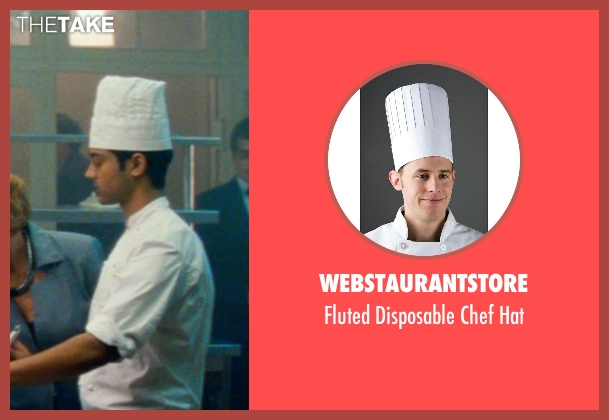 WebstaurantStore white hat from The Hundred-Foot Journey seen with Manish Dayal (Hassan Haji)