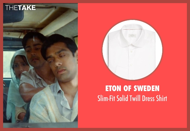 Eton of Sweden white shirt from The Hundred-Foot Journey seen with Manish Dayal (Hassan Haji)