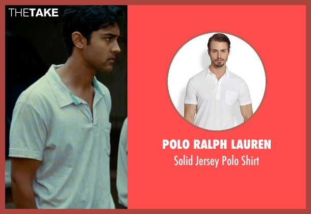 Polo Ralph Lauren white shirt from The Hundred-Foot Journey seen with Manish Dayal (Hassan Haji)