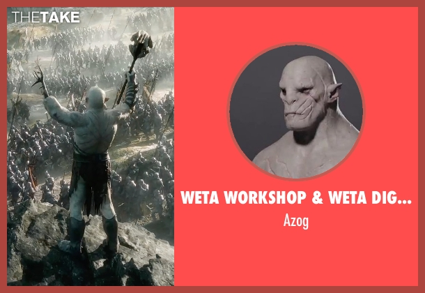Weta Workshop & Weta Digital azog from The Hobbit: The Battle of The Five Armies seen with Manu Bennett (Azog)