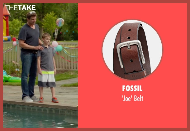 Fossil brown belt from Sleeping with Other People seen with Marc Blucas (Unknown Character)