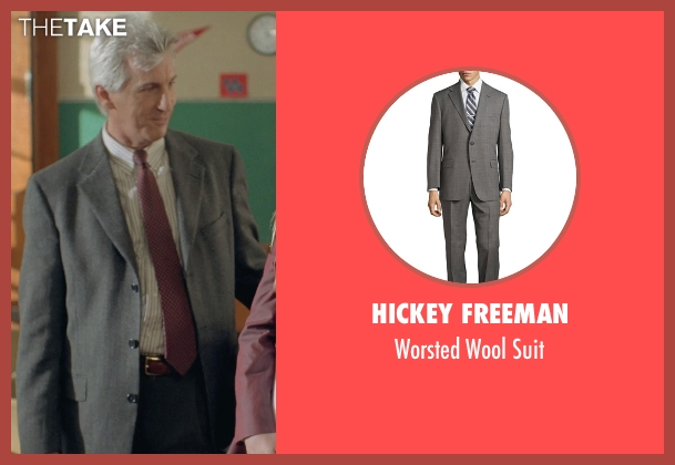 Hickey Freeman gray suit from Boyhood seen with Marco Perella (Professor Bill Welbrock)