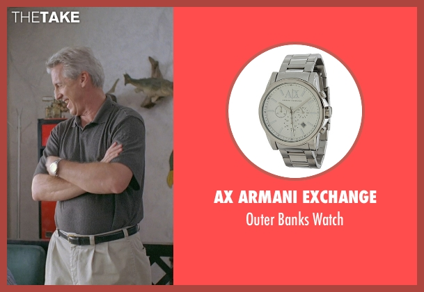 AX Armani Exchange silver watch from Boyhood seen with Marco Perella (Professor Bill Welbrock)