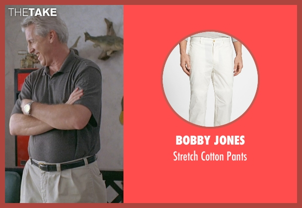 Bobby Jones white pants from Boyhood seen with Marco Perella (Professor Bill Welbrock)