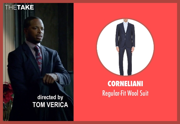 Corneliani blue suit from Scandal seen with Marcus Walker (Cornelius Smith Jr.)