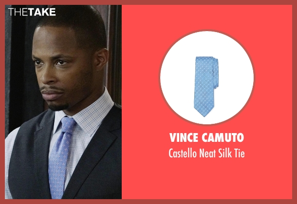 Vince Camuto blue tie from Scandal seen with Marcus Walker (Cornelius Smith Jr.)