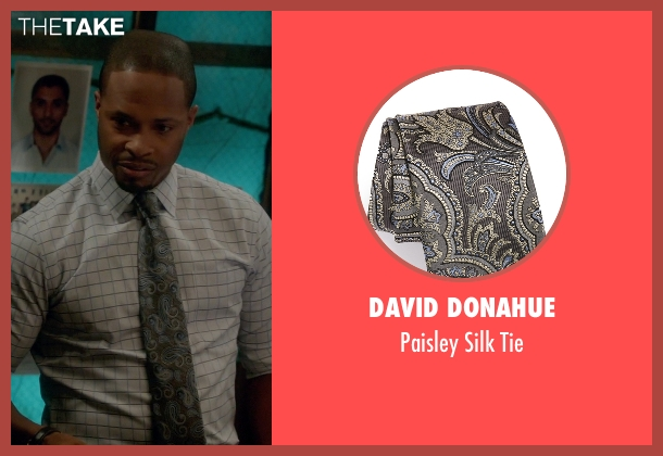 David Donahue gray tie from Scandal seen with Marcus Walker (Cornelius Smith Jr.)