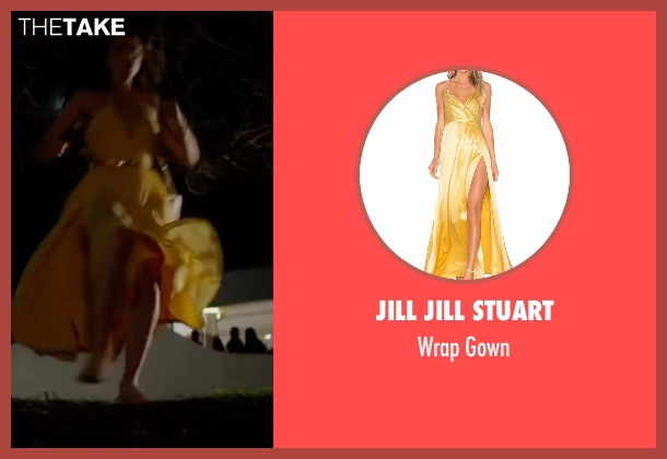 Jill Jill Stuart yellow gown from The Nice Guys seen with Margaret Qualley (Amelia )