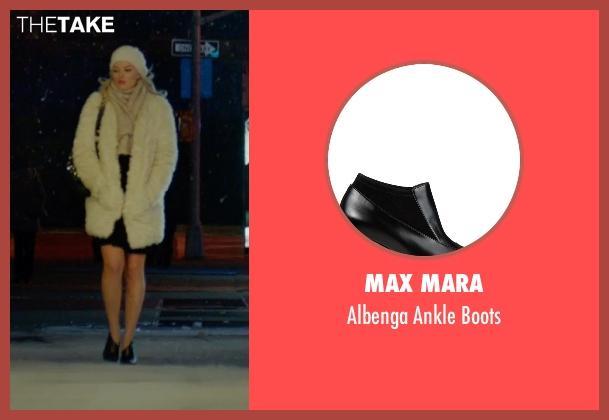 Max Mara black boots from Focus seen with Margot Robbie (Jess Barrett)