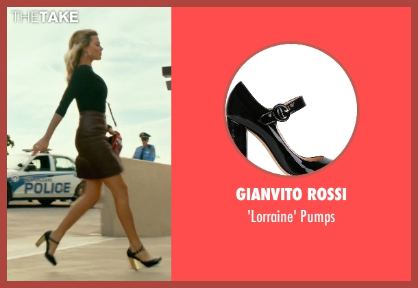 Gianvito Rossi black pumps from Focus seen with Margot Robbie (Jess Barrett)