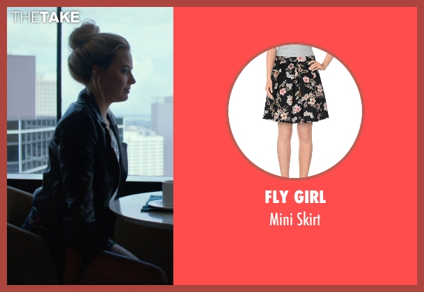 Fly Girl black skirt from Focus seen with Margot Robbie (Jess Barrett)