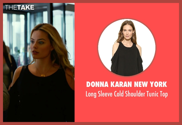 Donna Karan New York black top from Focus seen with Margot Robbie (Jess Barrett)
