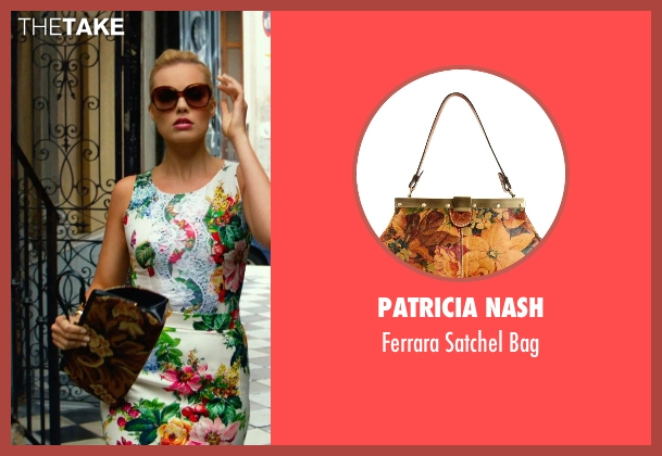 Patricia Nash brown bag from Focus seen with Margot Robbie (Jess Barrett)