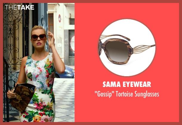 Sama Eyewear brown sunglasses from Focus seen with Margot Robbie (Jess Barrett)
