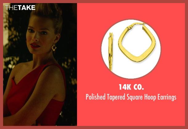 14k Co. gold earrings from Focus seen with Margot Robbie (Jess Barrett)