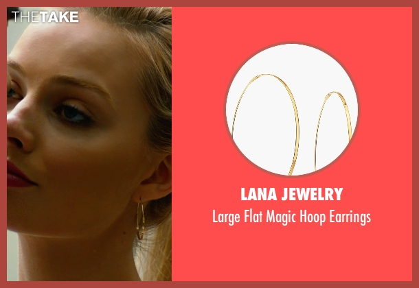 Lana Jewelry  gold earrings from Focus seen with Margot Robbie (Jess Barrett)