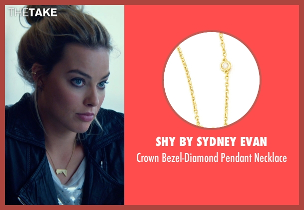 Shy by Sydney Evan gold necklace from Focus seen with Margot Robbie (Jess Barrett)