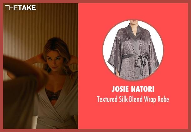 Josie Natori gray robe from Focus seen with Margot Robbie (Jess Barrett)