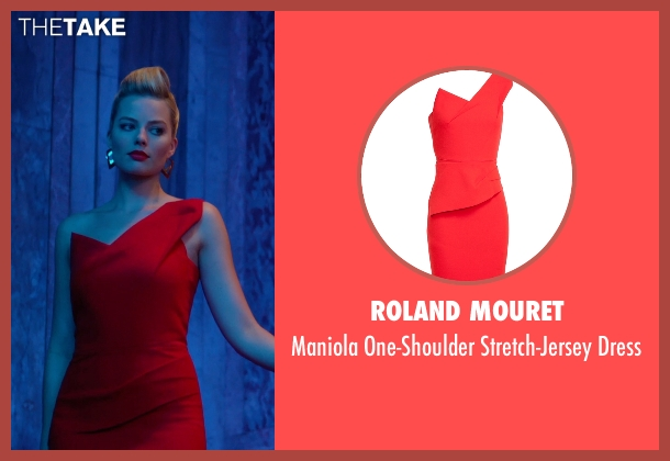 Roland Mouret red dress from Focus seen with Margot Robbie (Jess Barrett)