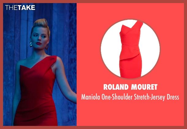 Roland Mouret red dress from Focus seen with Margot Robbie (Jess Barrett)