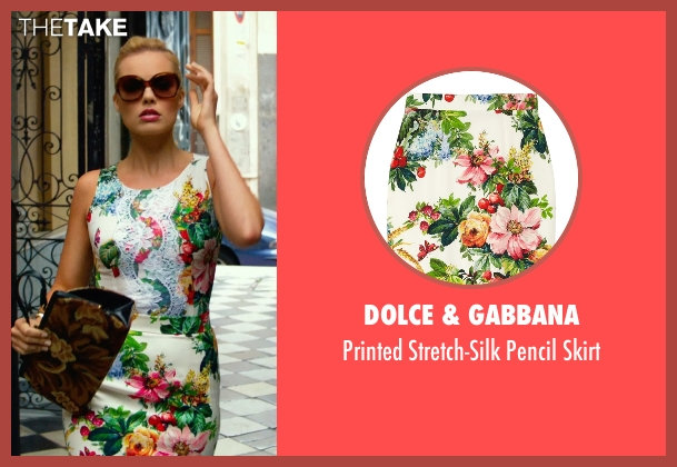 Dolce & Gabbana skirt from Focus seen with Margot Robbie (Jess Barrett)