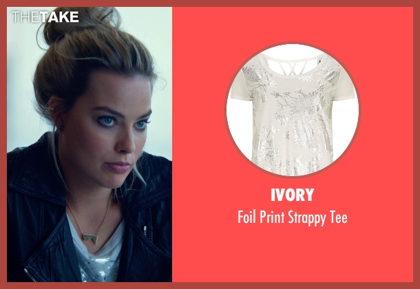 Ivory white tee from Focus seen with Margot Robbie (Jess Barrett)