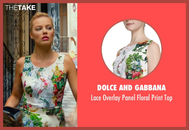 Dolce and Gabbana white top from Focus seen with Margot Robbie (Jess Barrett)