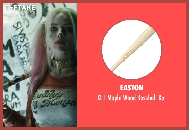 Easton bat from Suicide Squad seen with Margot Robbie (Dr. Harleen F. Quinzel / Harley Quinn)