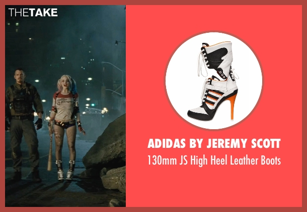 Adidas By Jeremy Scott boots from Suicide Squad seen with Margot Robbie (Dr. Harleen F. Quinzel / Harley Quinn)