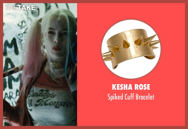 Kesha Rose bracelet from Suicide Squad seen with Margot Robbie (Dr. Harleen F. Quinzel / Harley Quinn)