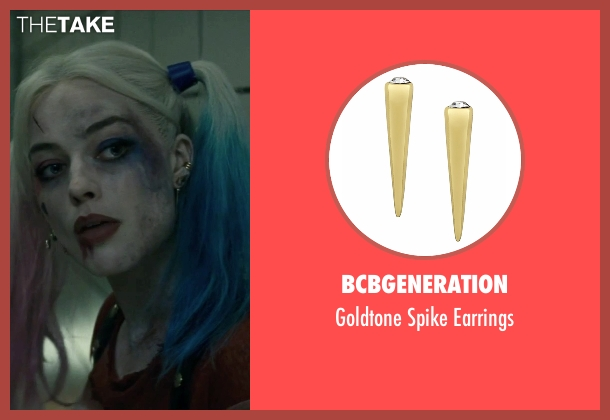 BCBGENERATION earrings from Suicide Squad seen with Margot Robbie (Dr. Harleen F. Quinzel / Harley Quinn)