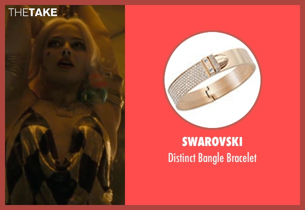 Swarovski gold bracelet from Suicide Squad seen with Margot Robbie (Dr. Harleen F. Quinzel / Harley Quinn)