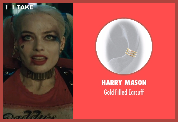 Harry Mason gold earcuff from Suicide Squad seen with Margot Robbie (Dr. Harleen F. Quinzel / Harley Quinn)