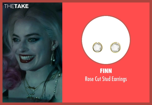 Finn gold earrings from Suicide Squad seen with Margot Robbie (Dr. Harleen F. Quinzel / Harley Quinn)