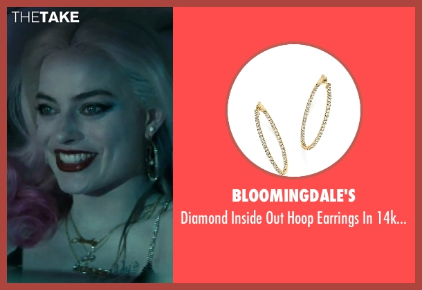 Bloomingdale's gold gold from Suicide Squad seen with Margot Robbie (Dr. Harleen F. Quinzel / Harley Quinn)