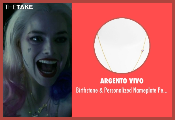Argento Vivo  gold necklace from Suicide Squad seen with Margot Robbie (Dr. Harleen F. Quinzel / Harley Quinn)