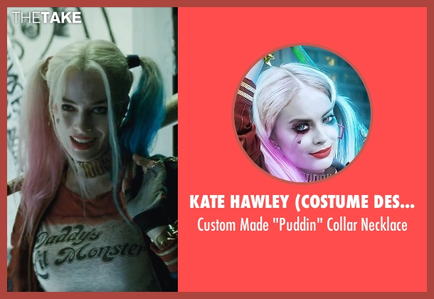 Kate Hawley (Costume Designer) gold necklace from Suicide Squad seen with Margot Robbie (Dr. Harleen F. Quinzel / Harley Quinn)