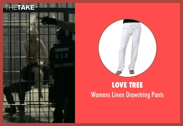 Love Tree white pants from Suicide Squad seen with Margot Robbie (Dr. Harleen F. Quinzel / Harley Quinn)