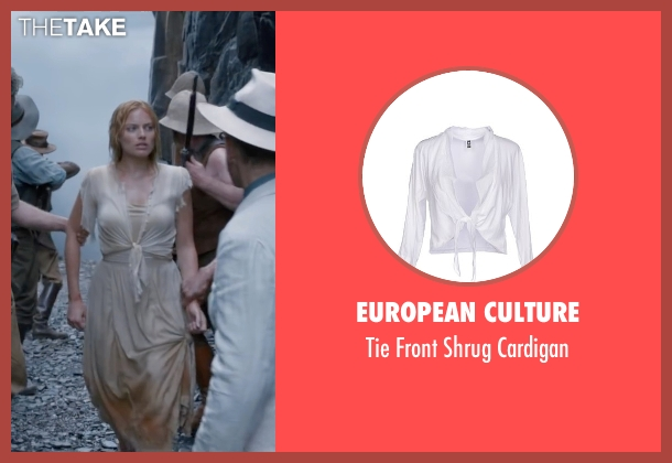 European Culture white cardigan from The Legend of Tarzan seen with Margot Robbie (Jane Porter)