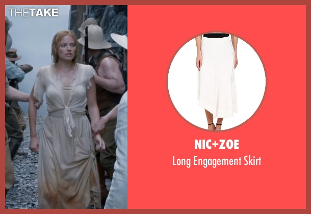 Nic+Zoe white skirt from The Legend of Tarzan seen with Margot Robbie (Jane Porter)