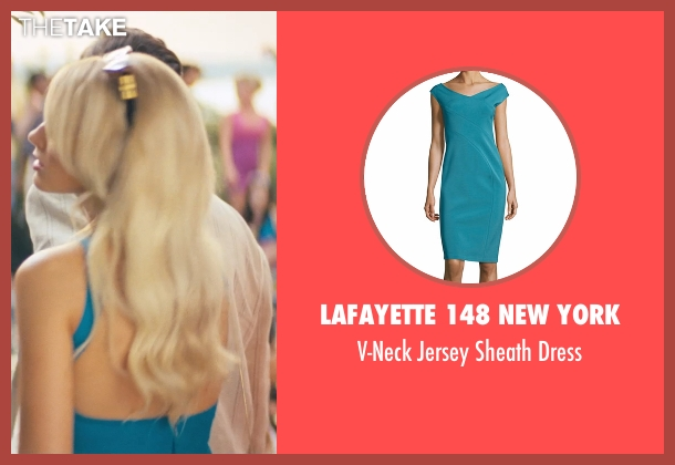 Zac Zac Posen blue dress from The Wolf of Wall Street seen with Margot Robbie (Naomi Lapaglia)