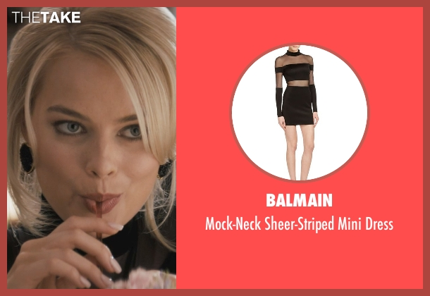 Balmain dress from The Wolf of Wall Street seen with Margot Robbie (Naomi Lapaglia)