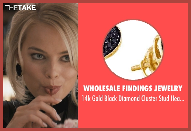 Wholesale Findings Jewelry earrings from The Wolf of Wall Street seen with Margot Robbie (Naomi Lapaglia)