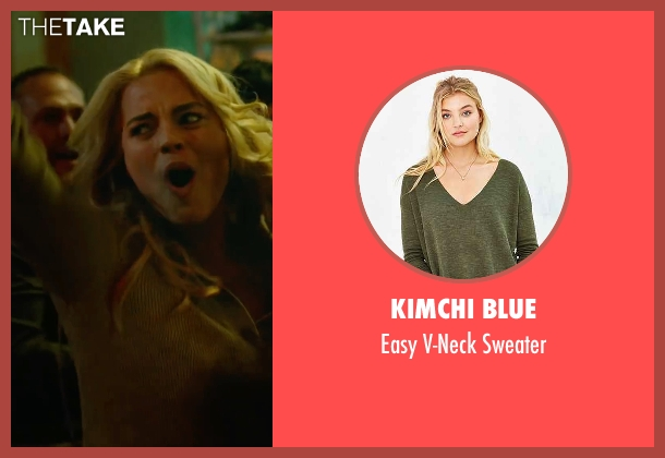 Kimchi Blue green sweater from Whiskey Tango Foxtrot seen with Margot Robbie (Tanya)