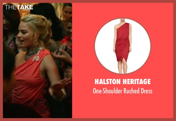 Halston Heritage orange dress from Whiskey Tango Foxtrot seen with Margot Robbie (Tanya)