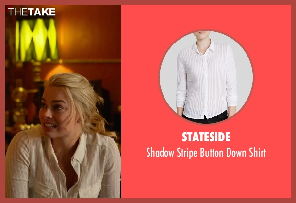 Stateside white shirt from Whiskey Tango Foxtrot seen with Margot Robbie (Tanya)