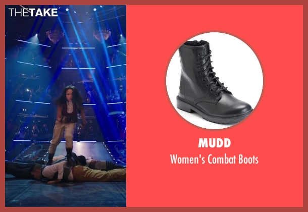 Mudd black boots from Step Up: All In seen with Mari Koda (Jenny Kido)