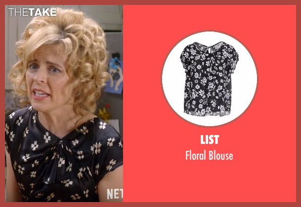 List black blouse from Lady Dynamite seen with Maria Bamford